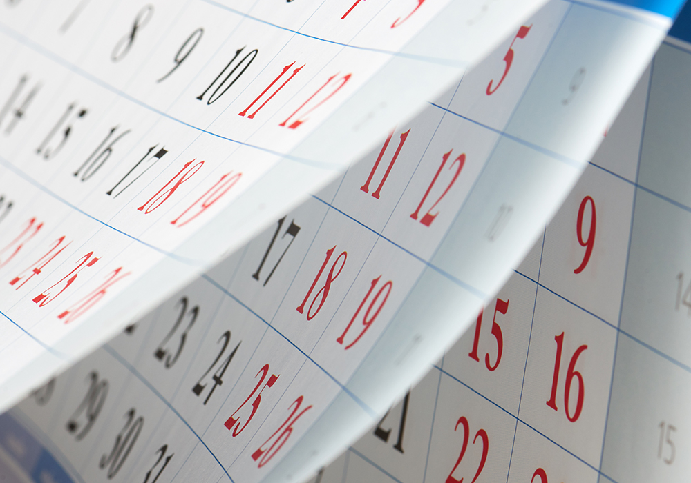 calendar flipping through pages