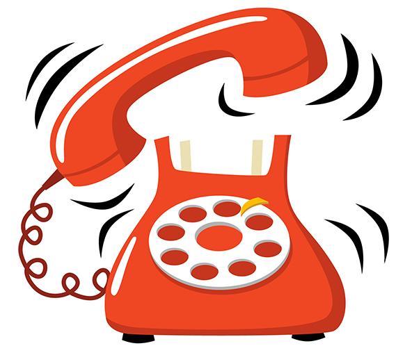clip art phone ringing