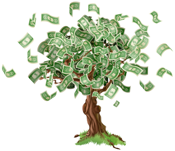 money growing from trees